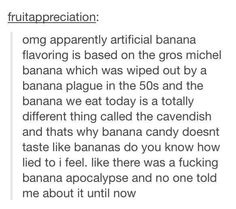 Banana lies!