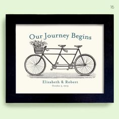 17 Creative Bicycle Themed Wedding Ideas (print: Michael Dexter Design)