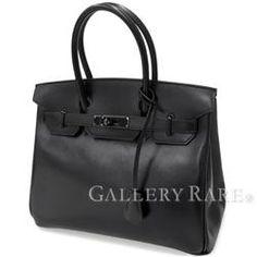 エルメス バーキン 30 cm ハンドバッグ ソーブラック×ブラック金具 ボックスカーフ N刻印 HERMES Birkin SO BLACK バッグ 黒