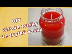 DIY jednoduchá domácí svíčka ze zbytků vosku - YouTube Hot Sauce Bottles, Pudding, Diy Projects, Desserts, Reuse, Food, Youtube, Flan, Postres