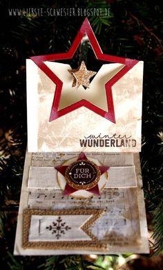 liebste schwester: Pop Up Weihnachtskarte