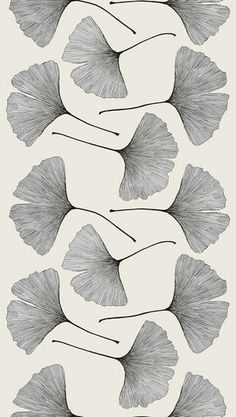 Ginkgo sateen | Printed Fabric | Fabric | Catalog | marimekkovancouver