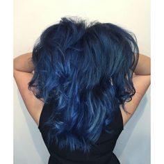 nice 25 Fabulous Dark Blue Hair Ideas - Using Your Hair to Brighten Your Looks Check more at http://newaylook.com/best-dark-blue-hair-ideas/