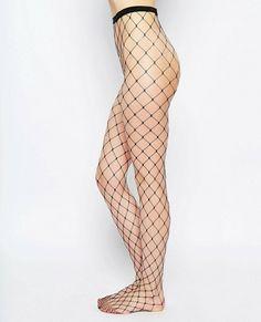 High waisted Fish Net Pantyhose