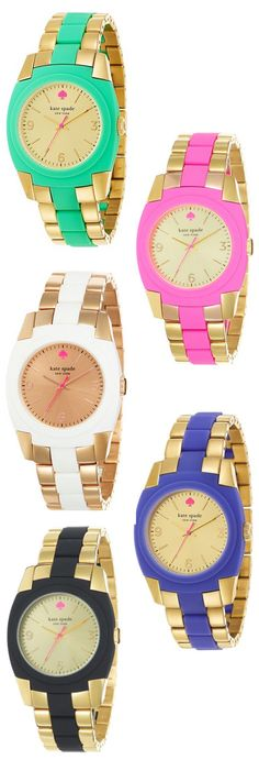 Kate Spade watches: I'll take one in each color, please!