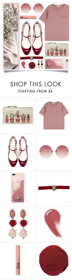 """Rosey?"" by racanoki ❤ liked on Polyvore featuring Zara, Linda Farrow, Case-Mate, Oscar de la Renta, NARS Cosmetics, Too Faced Cosmetics, Ilia and RaCaNoKi"