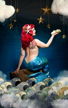 If we go as 'freaks' I defo want to be a mermaid......  re-pinned by http://thepinuppodcast.com