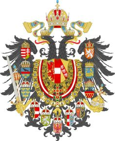 Imperial Coat of Arms of the Empire of Austria-Hungary, used from 1866 to Kingdom Of Bohemia, Austrian Empire, Carolingian, Holy Roman Empire, Austro Hungarian, Family Crest, European History, Art History, Crests