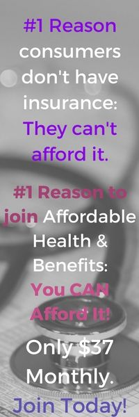 Affordable Health Plan only $37 a Month! Includes Dental and Vision Care and More. Join today! Quick and Easy to Sign up - Multiple health benefits in one Card. No long term contract