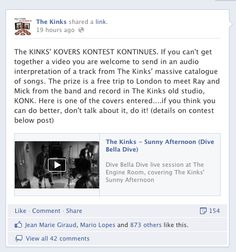 shout out to the kinks for the love and using dive bella dive for your