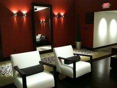 Swanky and cool, this spot at Weber's is a  great place for guests to relax after a long night of dancing.