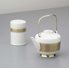 """PHILLIPS : NY050107, Marguerite Friedlander and Trude Petri, Extract teapot and tea caddy from the """"Hallesche Form"""" series"""
