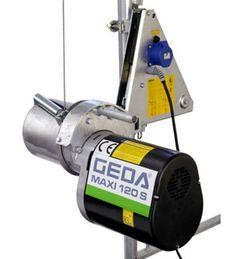 Stavební vrátek, elektrický naviják, lanový naviják GEDA. Lešení ALFIX – prodej a pronájem lešení
