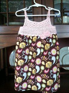 Crochet top dress.