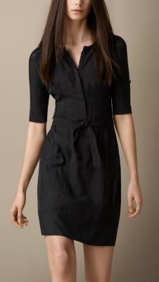 Silk Shirt Dress Burberry