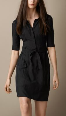 Silk Shirt Dress Burberry - LOVE shirt dresses ... Dresses with sleeves are hard to come by!