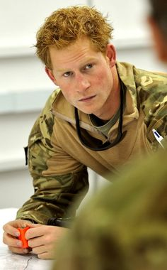 Prince Harry   When not performing his royal duties, Prince Harry is also a man in uniform. Check out these pics of Capt. Harry Wales (as he's known) on the job as an Apache helicopter pilot serving with British forces.