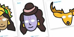Rama and Sita Role Play Masks Primary School, Pre School, Mothers Day Crafts, Crafts For Kids, Diva Lamp, Diwali Story, Diwali Activities, Work Folders, Diwali Festival