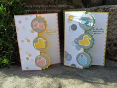Zippy Stamping w/ Meri & Barb: Stampin' Up! - Something to Say, Something about Baby, Baby's First Framelits