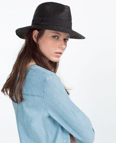 bf1f925df37 Black straw panama hat for women UV summer wide brim sun hats