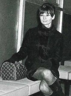 Audrey Hepburn with her Louis Vuitton Speedy 25, which was made especially for her when she requested a smaller Speedy.