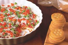 It almost doesn't matter how you stack 'em up. If you're using pizza ingredients, everyone digs in. This saucy, cheesy dip with fresh peppers proves the point.