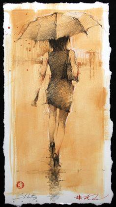 stilettos, Andre Kohn. graphite