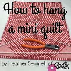 Tutorial shows you a quick and effective non-permanent way to display your growing collection of mini quilts. If you are visiting from Fort Worth Fabric Studio Mini Quilt Mania, Welcome! I have a quick tip on an easy way to hang mini quilts. If I am making a mini to keep or give away, I …