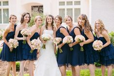 I'm absolutely dying over this color palette of navy with pale pink and rustic accents!