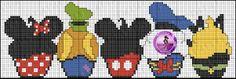 Free Disney cupcakes cross stitch pattern #stitching