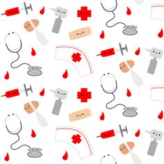 Happy Nurse fabric by clayvision on Spoonflower - custom fabric
