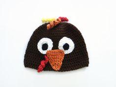 Baby Turkey Hat Crochet Animal Hat by PreciousBowtique on Etsy