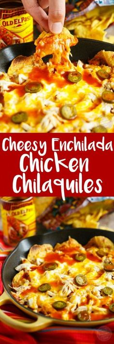 Cheesy, easy, spicy, and perfect for the big game! You might need to make an extra skillet of these! Yummy Chicken Recipes, Yum Yum Chicken, Turkey Recipes, Yummy Recipes, Mexican Dishes, Mexican Food Recipes, Dinner Recipes, Dinner Ideas, Snacks Recipes