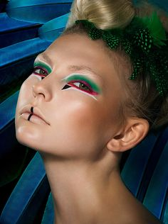 Exotic Bird shoot by Jonathan Knowles   #makeup #mua #paint #fashion #beauty #photography #jonathanknowles
