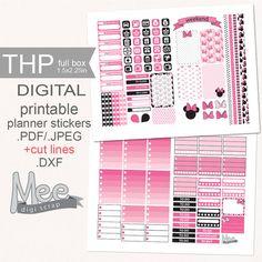 Pink Minnie Mouse planner stickersprintable  by MeeDigiScrap