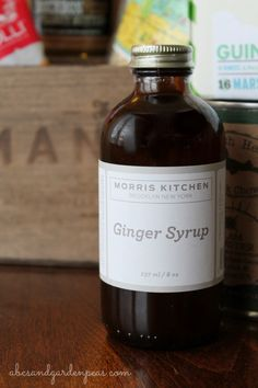 Morris Kitchen Ginger Syrup, made in Brooklyn NY. Got it in my Mantry crate! Click to see what else was inside...  via www.abcsandgardenpeas.com #ad