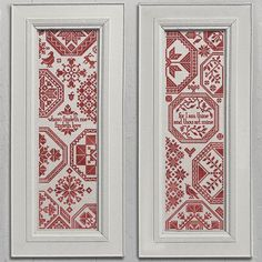 Two Quaker Sister Samplers - PDF Cross-Stitch embroidery pattern chart by Modern Folk Embroidery