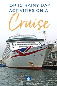 Are you planning the perfect cruise vacation? It doesn't matter the cruise line or the destination, you worry that if it rains, it will ruin your fun. But think again! There are plenty of things to do on the cruise ship if it rains. Here are our top 10 things you can do on a cruise when it rains. From exploring the ship, playing games, to pampering yourself, and so much more. Check out our post and worry no more! Believe us, there are plenty of options! Best Cruise, Cruise Port, Cruise Travel, Cruise Vacation, Vacations, Cruise Excursions, Cruise Destinations, Packing List For Cruise, Cruise Tips