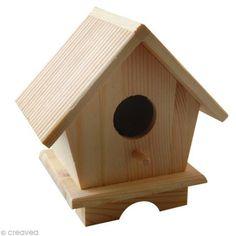 Abris oiseaux Maison en bois 13 cm - Photo n°1