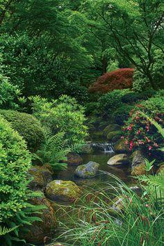 japanese garden Elements of a Japanese Garden - FineGardening Japanese Garden Backyard, Japanese Garden Landscape, Japanese Garden Design, Japanese Gardens, Landscape Concept, Landscape Design, Agriculture, Farming, Château Fort