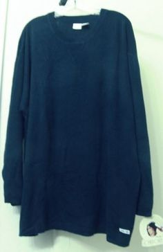 NWT-Women-s-CHEROKEE-Navy-Acrylic-Cotton-Knit-Crewneck-Sweater-L-S-26-28