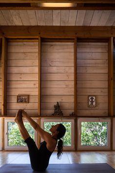 "Timber yoga studio has ""spiritual atmosphere"" according to the architect."