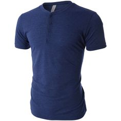 LE3NO PREMIUM Mens Lightweight Tri-Blend Short Sleeve Henley Shirt ($23) ❤ liked on Polyvore featuring men's fashion, men's clothing, men's shirts, men's casual shirts, aaron evans, men, mens henley shirts, mens short sleeve henley shirts, mens jersey shirts and mens jerseys