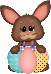 Silhouette Design Store - View Design #56191: easter bunny w 3 colored eggs pnc