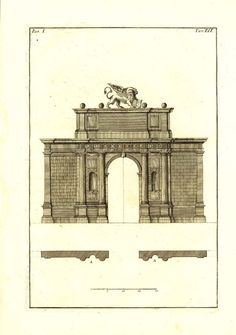 Palladio Antique Architectectural Print 1760 Arch of by carambas, $78.00