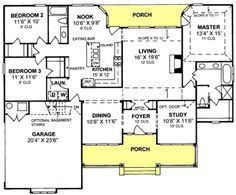 1600 sf 3 bedroom Modern Open Floor Plans | 1600 square ...