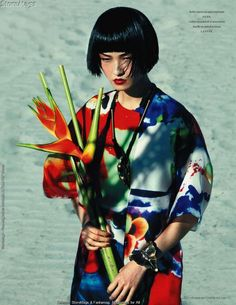 Wang Xiao by Mason Poole for L'Officiel Feb 2011