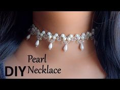 How to make pearl bridal necklace | DIY easy pearl necklace | pearl jewelry making - YouTube