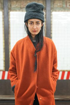 Subway Stalking! 60+ Real NYers En Route #refinery29  http://www.refinery29.com/nyc-subway-street-style#slide-2  Orange ya glad we snapped this sultry shot?L Train, Bedford Avenue — 3/14, 7:47 p.m....