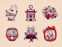 old school & japan Japanese Tattoo Symbols, Japanese Tattoo Art, Japanese Tattoos For Men, Japanese Mask, Traditional Japanese Tattoos, Bodysuit Tattoos, Tengu Tattoo, Tattoo Japonais, Oriental Tattoo